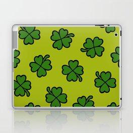 Lucky Four Leaf Clover Pattern Laptop & iPad Skin