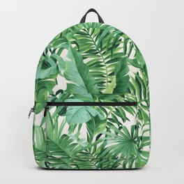 Green tropical leaves III Backpack