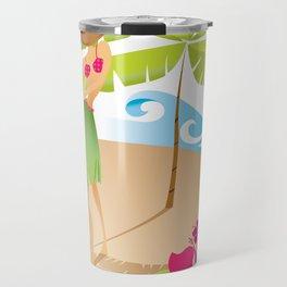 Hula Girl Travel Mug