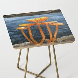 Tangerine Fungi by Teresa Thompson Side Table