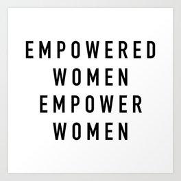 Empowered Women Art Print