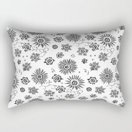 Flowers embroidery Rectangular Pillow