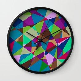 """Moment #4"" Montana Gold Spray Paint on Birch Panel 9″ x 12″ x 1.5""  Wall Clock"