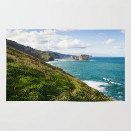 Basque Country coast landscape Rug