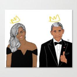 The Obamas Canvas Print