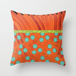 dot bag (orange) Throw Pillow