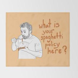 Charlie Kelly - Spaghetti Policy Throw Blanket