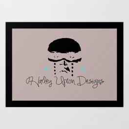 Harley Upton Designs LOGO - Warrior Face Art Print