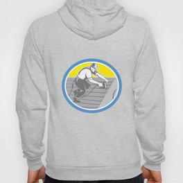 Roofer Roofing Worker Circle Retro Hoody