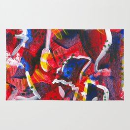 Acrylic Painting - Abstract 3 Rug