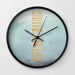 Heroism Wall Clock