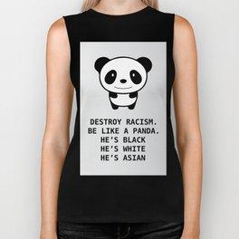 panda-racism Biker Tank