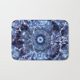 Iris Mandala Blue Bath Mat