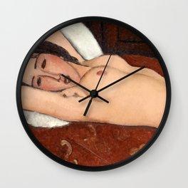 """Amedeo Modigliani """"Reclining Nude"""" Wall Clock"""