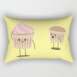 A free buttercream cupcake is not a cupcake Rectangular Pillow