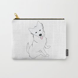 White Pupper Carry-All Pouch