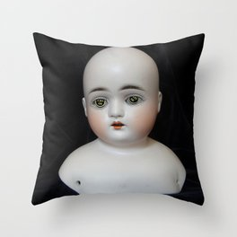 Typewriter Key Creepy Mentalembellisher Doll Throw Pillow