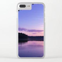 Benson Lake Purple Sky Clear iPhone Case
