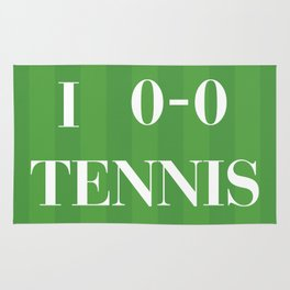I heart Tennis Rug