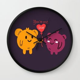 You're My Love Wall Clock