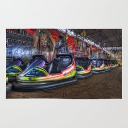 Fairground dodgems Rug