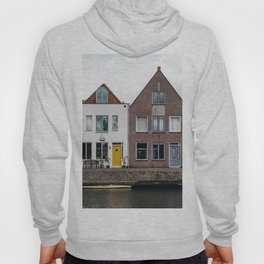 Row houses and Canal in The Netherlands Hoody