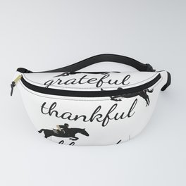 Grateful Thankful Blessed Horse Jumping Fanny Pack