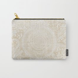 Medallion Pattern in Pale Tan Carry-All Pouch