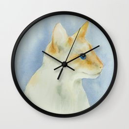 red point siamese cat 1 Wall Clock