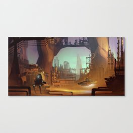 Desert industry Canvas Print