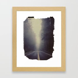 Long Road, Redwoods National Park. Instant Film Framed Art Print