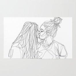 Girls kiss too Rug