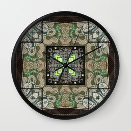 Street art kaleidoscope 2 Wall Clock