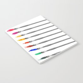 Palette of Brushes - square Notebook