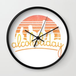 Alcoholiday Wall Clock