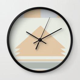Southwest Mountain Range in Sage Bush green Wall Clock