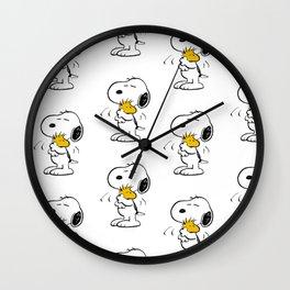 snoopy woodstock Wall Clock
