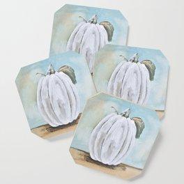 Tall white pumpkin Coaster