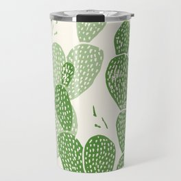 Linocut Cactus #1 Travel Mug