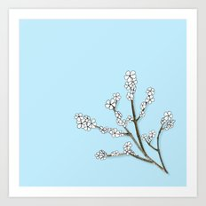 Paper and Twigs Art Print