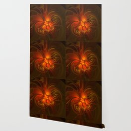 Burning, Abstract Fractal Art With Warmth Wallpaper