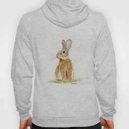 Butterscotch Rabbit - animal watercolor painting Hoody