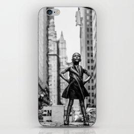 Fearless Girl New York City iPhone Skin