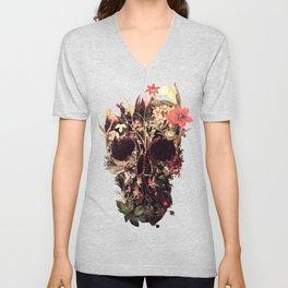 Bloom Skull Unisex V-Neck
