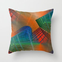 city pattern -3- Throw Pillow