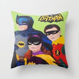 Bat Trio 66 Throw Pillow