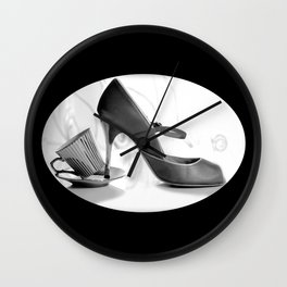 Glamorous Obsessions in high heels Wall Clock