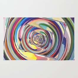 Spinning Colors Abstract Rug