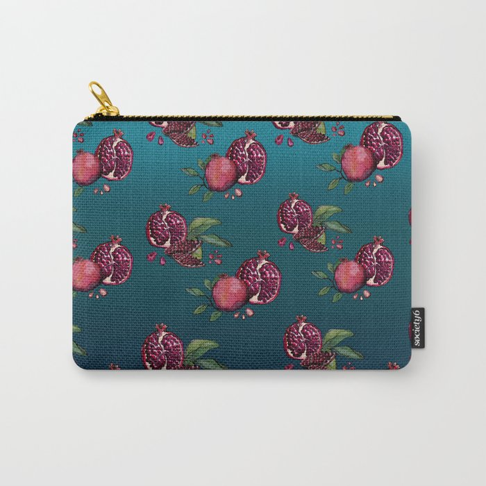 Pomegranate Parade Carry-All Pouch