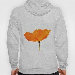 One And Only - Orange Poppy White Background #decor #society6#buyart Hoody